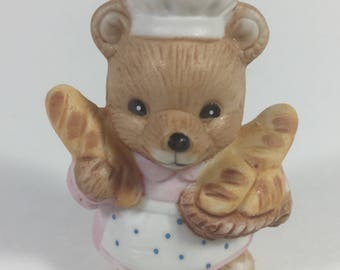 SALE Homco Career Bear Figurine Baker # 8820 Hand Painted Collectibles Pristine Condition