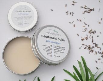 Natural Deodorant Balm - Soft Lavender - 30gm or 80gm - Aluminium free