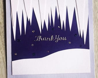 Icicle Thank You Card