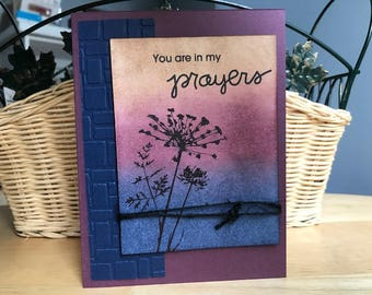 Sympathy, thinking of you, You are in prayers card