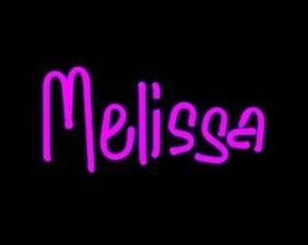 Custom Neon Wall Hanging Name, Letters, or Words Art Sculpture - Your Name in Neon, 3 to ? letters - A Great Gift!!!