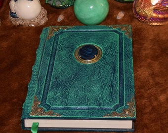 Green Shell Cameo book tome grimoire spellbook journal magic sketchbook larp cosplay