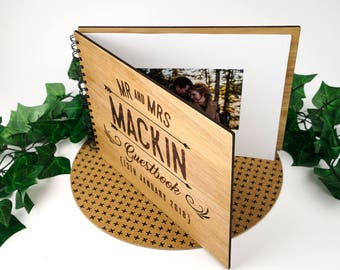 Personalised A4 Wooden Photo book album. FREE AU Shipping!