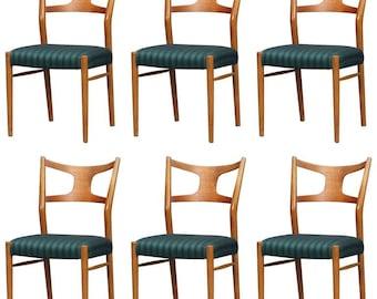 Rare Dining Chairs by Kurt Østervig, Set of Six