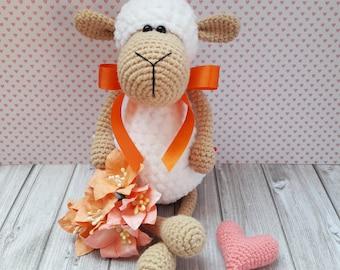 amigurumi/amigurumi sheep/ crochet toys/ crocher lamb/plush sheep