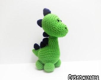 Crochet Dinosaur Mr. Wobbles - Customizable