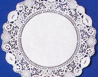 "8"" White Normandy Lace Doilies, 500/Box, 10 Box/Case"
