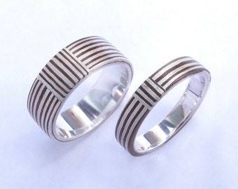 Wedding Bands- Mokume gane rings for his and hers