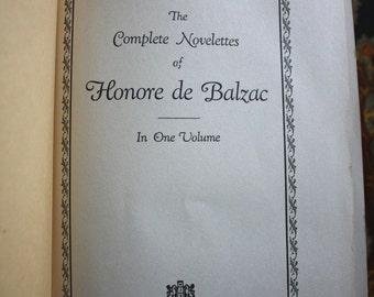 Honore de Balzac 1926 Antique Hardcover Complete Novelettes Collection by Walter J Black Publishing.