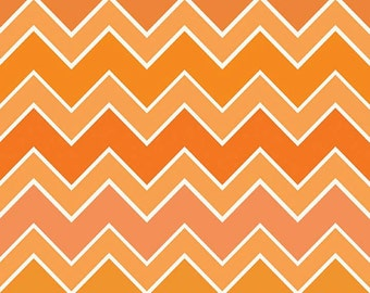 Riley Blake Medium Chevron Shaded Blaze Fabric, 1 yard