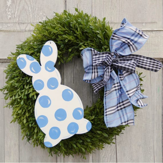 """Mini Easter door hanger, Easter wreath attachment, 12"""" Easter door hnanger, mini bunny sign, Easter decor"""