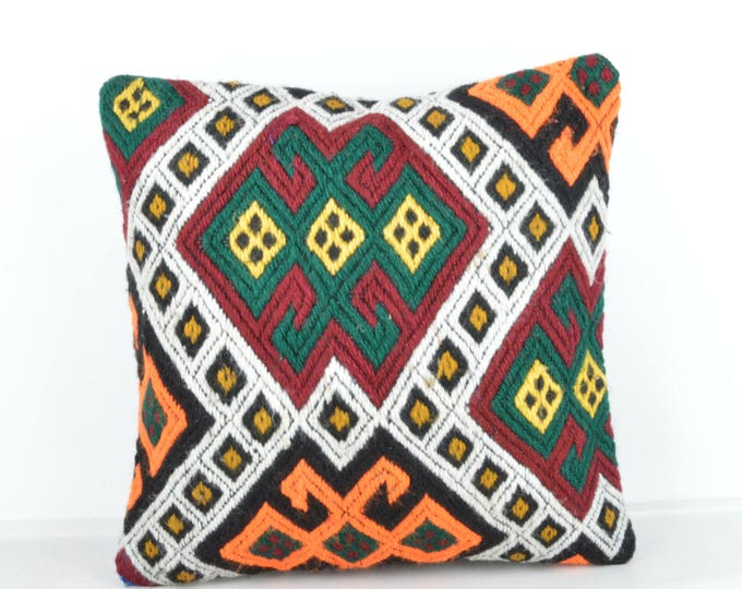 Kilim pillow, Kilim Pillow Cover, Turkish Pillow, Kilim Cushions, Moroccan Pillow,  Bohemian Pillow, Turkish Kilim, KP64 (tp452)