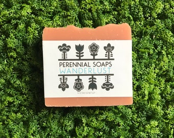 Bergamot Orange Soap - Wanderlust - Citrus & Herbaceous - Vegan Soap - Palm Oil Free
