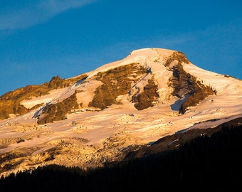 Instant digital download Mt.Baker with snow at Sunset fine art photography Mountain landscape printable photography