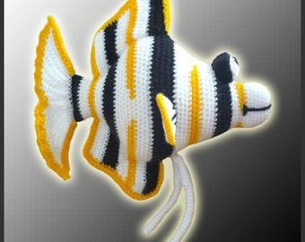 Amigurumi Pattern Crochet Angelo Angel Fish DIY Digital Download