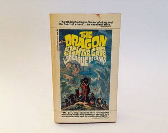 Vintage Sci Fi Book The Dragon of the Ishtar Gate by L. Sprague de Camp 1968 Paperback Fantasy