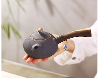 Handmade Japanese Coarse Pottery Porcelain Teapot,Chinese Style Ceramic Teaware