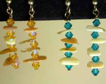 Crystal & Shell Earrings