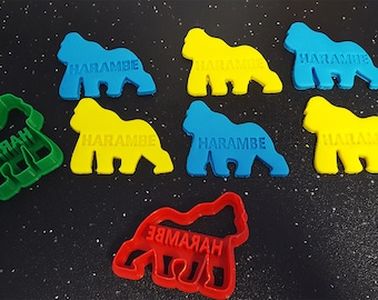 Harambe Cookie Cutter – 3D Printed - Bakery Cookie Cutter - Baby Cookie Cutter - Custom Cookie - Clay Cutter - Fondant Cutter - FunOrders