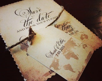 "invitation ""luggage tag"" embellishment"