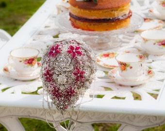 Diamante teardrop and swarovski crystal brooch bouquet