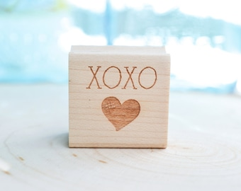 XOXO Heart Rubber Stamp