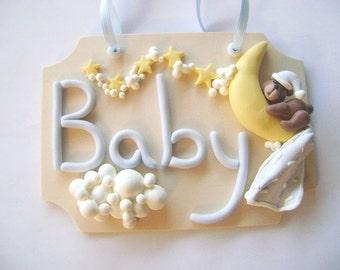 Baby Room Door Sign. Baby Room Decoration. Nursery Wall Hanging. NurseryWall Decor. Baby Gift Ideas