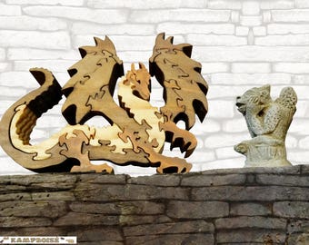 The chimera Mummy puzzle: wooden dragon
