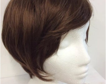 Chestnut Brown and blonde synthetic full wig
