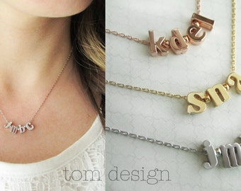 Build Your Own Necklace - Custom Initial Necklace Personalized Gift for Mom Bridal Gift Personalized Bridesmaid Gift, Gift for Her, Custom