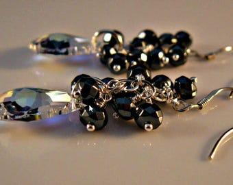 Crystal Cluster Earring,crystal earrings,dangle earrings,drop earrings,Swarovski earrings,crystal earrings,Swarovski crystal earrings
