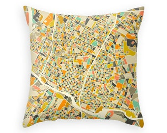AUSTIN MAP Throw Pillow for your Home Décor