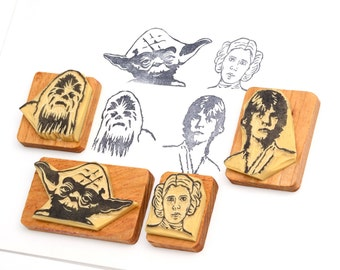 Star Wars 2 - Hand carved rubber stamp set