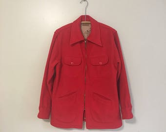 Vintage Mens Red Wool Jacket by Marshall Field & Company The astore For Men Sports Apparel Medium