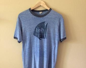 "Vintage ""Fish Building Supply"" Ringer T Shirt"
