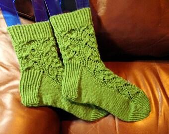 Gorgeous in Green Ladies Socks
