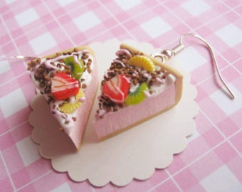 Slices Pie with fruit Earrings