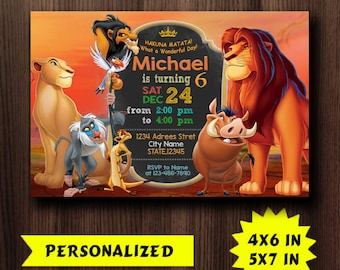 Lion King Lion King Invitation Lion King Party Lion King