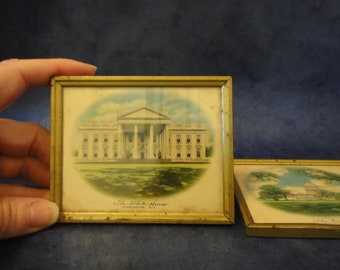 Vintage Miniature Washington D.C. Frame Set