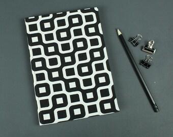 Notebook black white, black diary, black bullet journal, notebook, knitting pattern book, idea book, diary, black and white note book