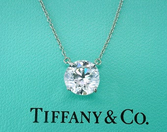 Tiffany & Co  2.60Ct Pendant Setting Necklace