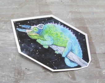 Chameleon Crystal Waterproof Decal - Chroma Prismatic Sticker