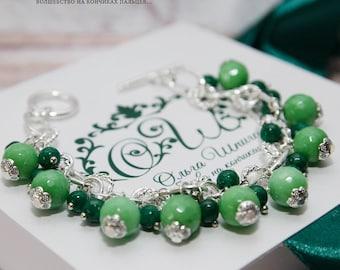 agate bracelet agate jewelry gemstone bracelet green bracelet silver bracelet bracelet agate gift for her gifts for her silver jewelry agate