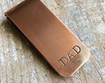 Dad Copper Money Clip, Best Dad Ever Gift, Father Money Clip, Dad Gift From Kids, Father's Day Gift For Dad, Little Bit Of Money