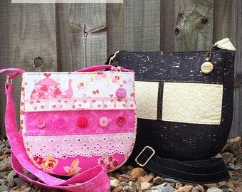 Cross body bag pattern, Summertime Sling, cross body bag, sling bag, small bag, large bag, bag pattern, bag PDF, sling bag pattern