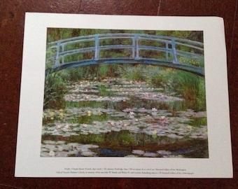 National Gallery of Art *The Japanese Footbridge* Claude Monet Print. D2982