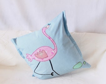 Girl room pillow cover girl Cushion cover Toddler girl Pillow case New baby girl Pillow Gift daughter Child room pillow Pink blue