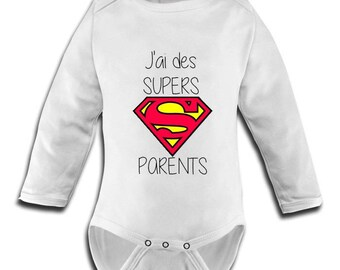 fitted body suit with image j have great parents