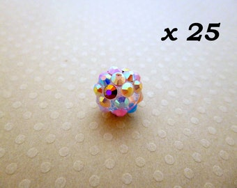 Resin 25 beads for Shamballa 12 mm - L25727