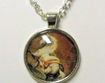 Dappled grey horse pendant with chain - HAP05-009